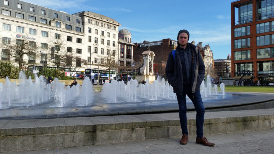 Oliver Martin in Piccadilly Gardens