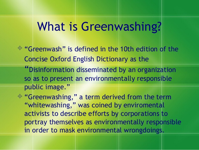 Big Oil greenwash