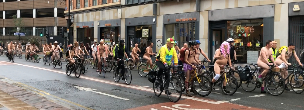 World naked Bike Ride Manchester 2019