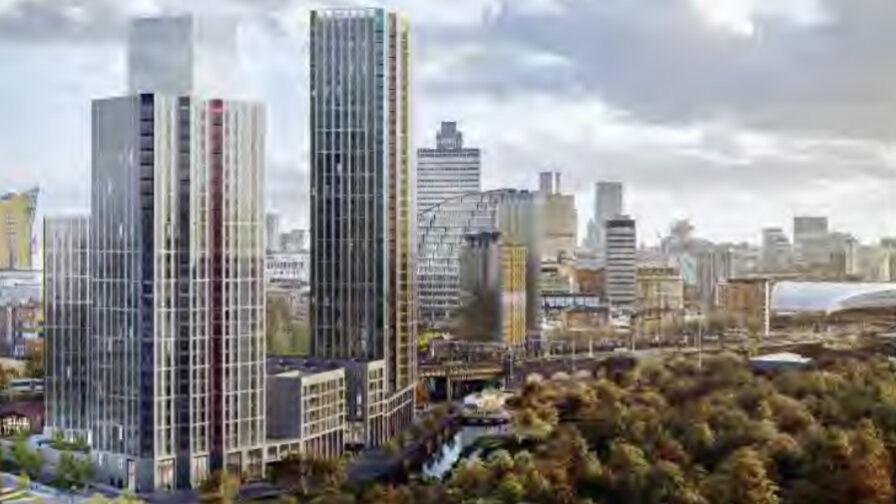 Artists impression of the Far Eastern Cosortium development in the Northern Gateway that is up before planning committee in Manchester