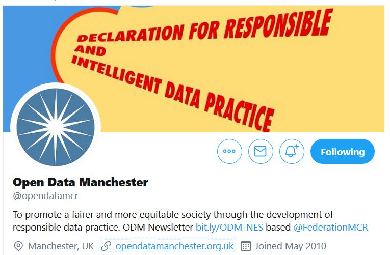 Open Data Manchester Twitter header