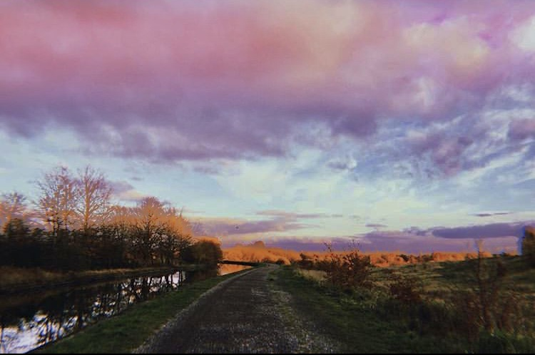 A sunset over a rural scene in Leigh -Lessons from Leigh