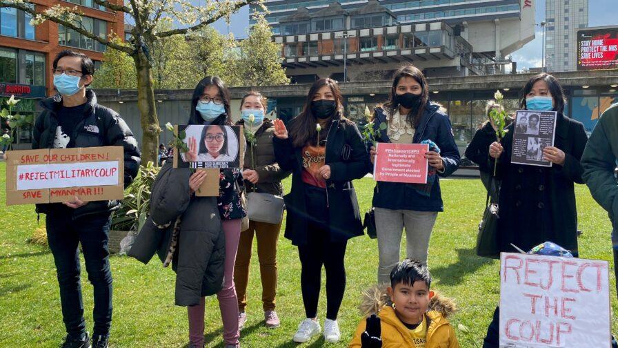 Burmese protestors in Manchester