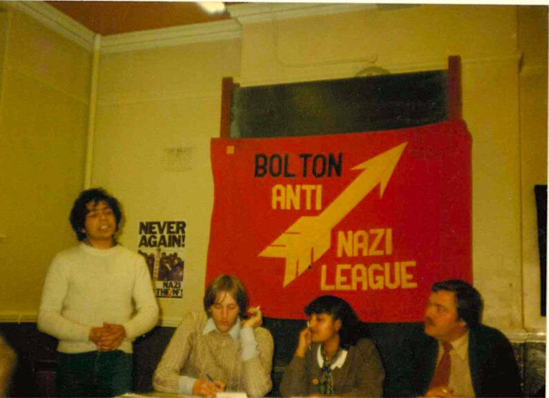 Bolton ANL meeting with Pravin Parmar (co-founder of the Bolton Asian Youth Organisation) 1979. Photo: Ramila Patel