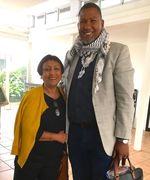 Ramila with Mandla Mandela, Johannesburg 2020. Photo: Ramila Patel