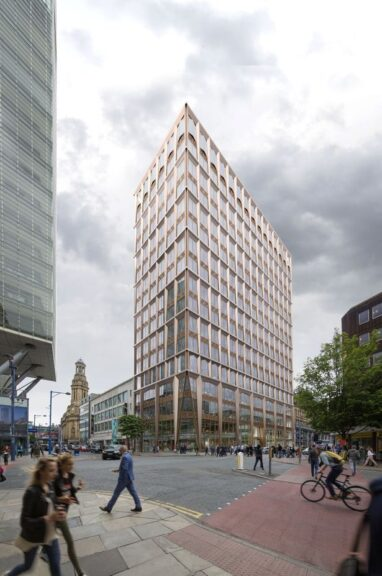 Proposed 17-storey office block at 39 Deansgate which planning committee decided to do a site visit on.
