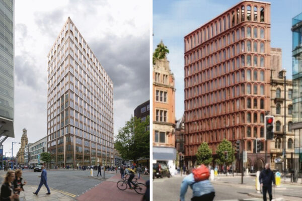 Picture of two proposed buildings in Manchester up before the Planning Committee