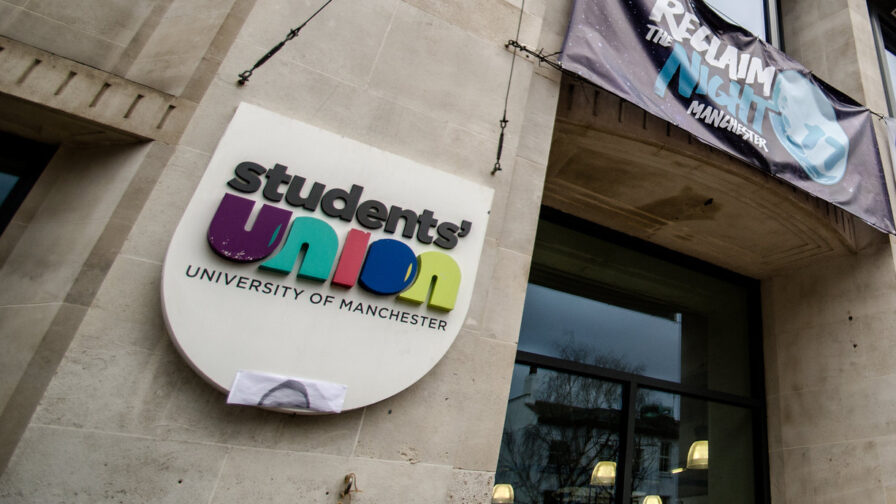 Logo of the Students' Union at the University of Manchester