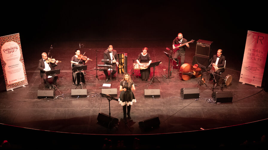 Celebrating Syria festival band performing on stage