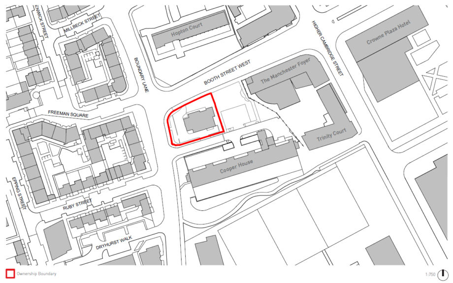 Streetplan of Gamecock pub development site, which the Block the Block campaign have started a crowdfunder to oppose