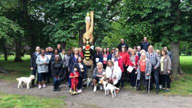 Cruse Bereavement Care gathering in Longford Park pre-Covid