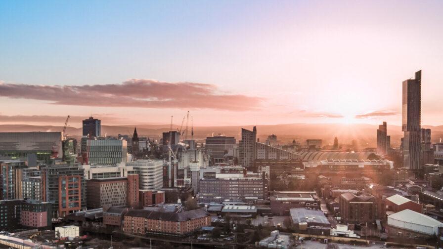 Manchester city centre sunrise. Fair Tax Mark article.