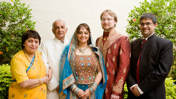 Jyotika Virmani, ocean scientist, wedding day photo