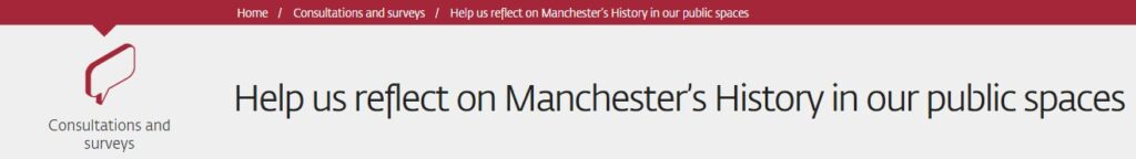 Image of councils consultation page into statues and monuments in Manchester.