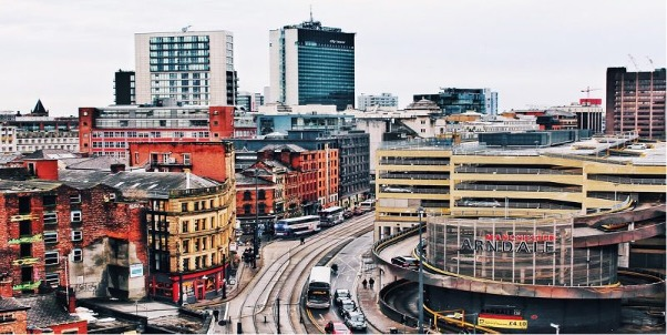 Image of Manchester City Centre in article on planning