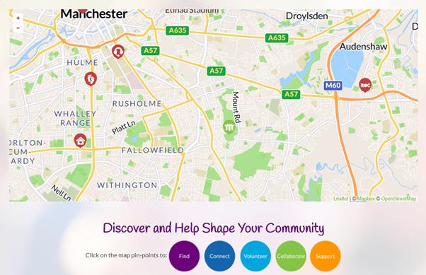 Manchester Gorton Community Map image