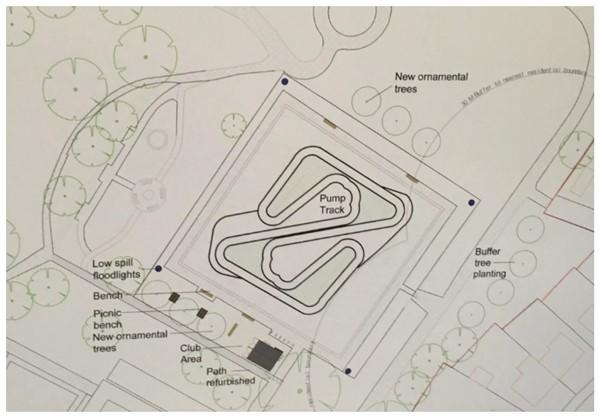 Plan for bike park in Peel Park.