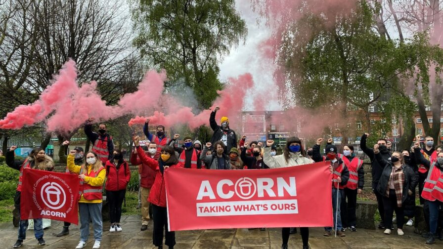 ACORN campaining against police powers bill