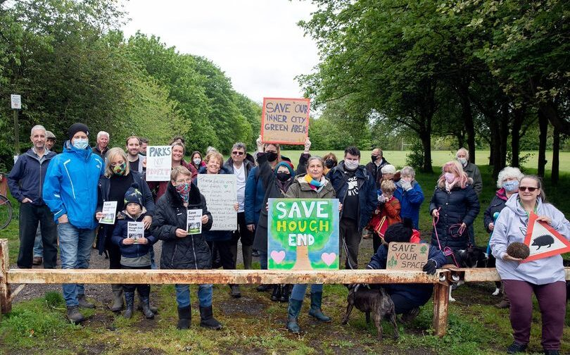 Save Hough End playing fields campaigners