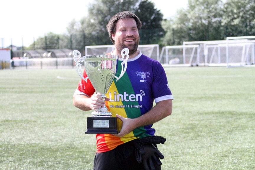 Village Manchester FC player Jeremy Baker