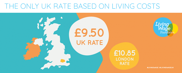 Real living wage graphic in story about low home care wages