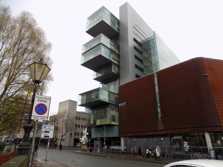 Image of Manchester civil justice centre, where tenants are facing eviction.