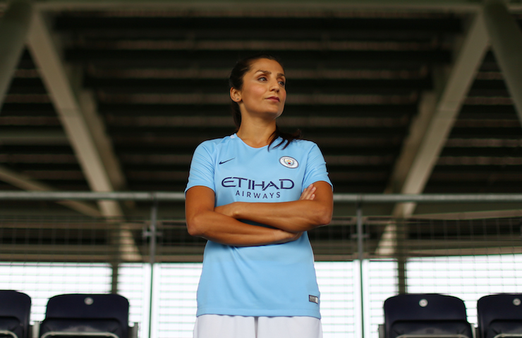 nadia Nadim when playing for Manchester City