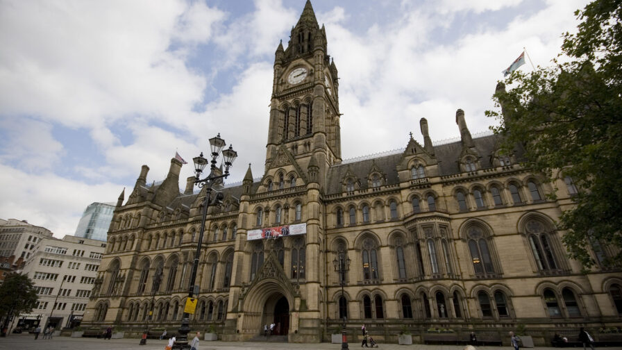 manchester town hall. to represent councils role n tackling climate emergency.